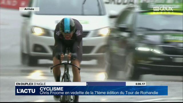 Chris Froome, grand favori du Tour de Romandie