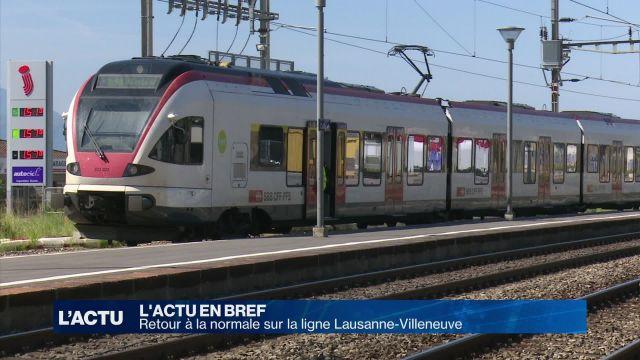 Retour à la normale sur la ligne Lausanne-Villeneuve