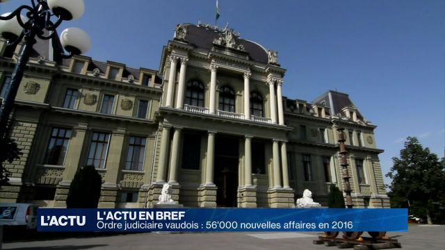 Ordre judiciaire vaudois: 56'000 nouvelles affaires en 2016