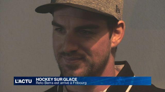 Hockey : Reto Berra est arrivé à Fribourg