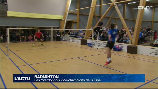 Le BC Yverdon-les-Bains vice-champion suisse de badminton