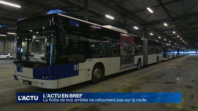 La flotte de bus arrêtée ne retournera pas sur la route