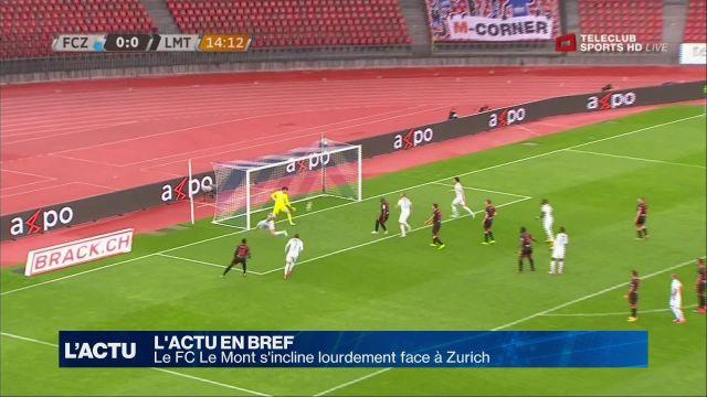 Le FC Le Mont s'incline lourdement face à Zurich