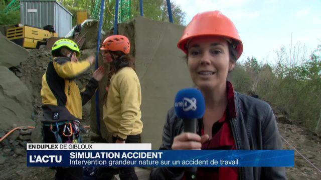 Simulation d'un accident de travail