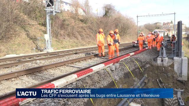 Les CFF s'excusent pour les perturbations ferroviaires