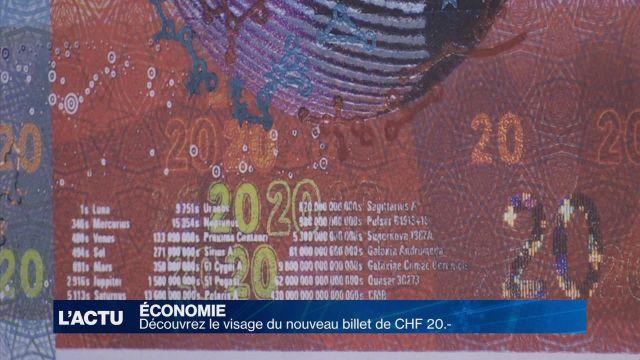 Découvrez le visage du nouveau billet de CHF 20.-