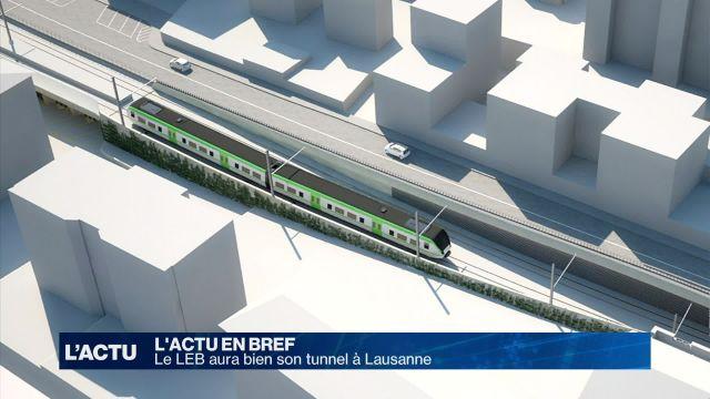 Feu vert pour le tunnel du LEB à Lausanne