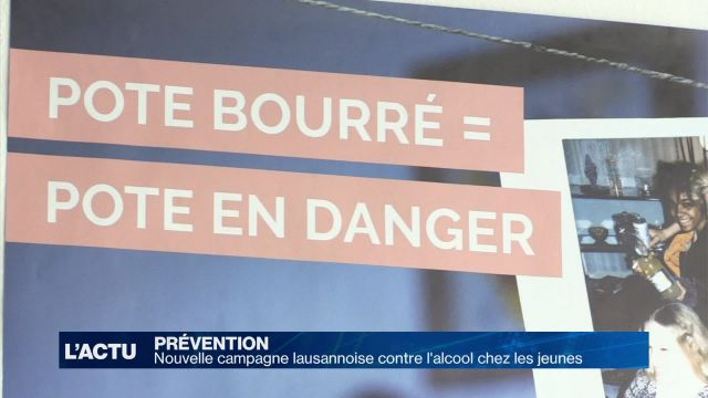 Nouvelle campagne contre l'alcool de la Ville de Lausanne