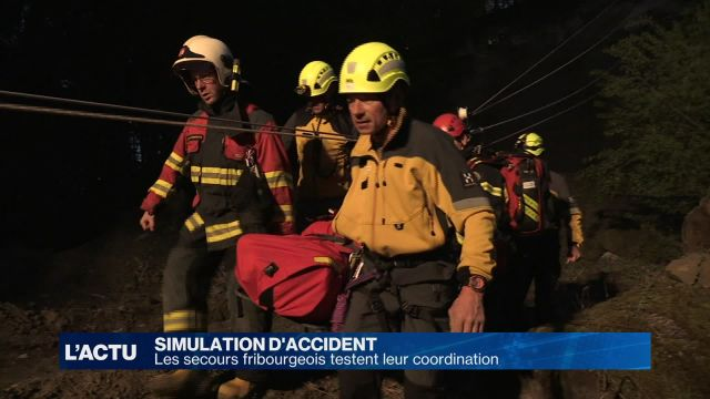 Simulation d'un accident de travail