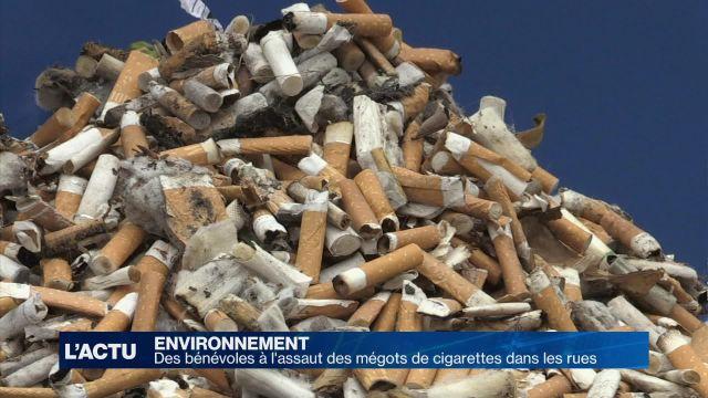 Des bénévoles à l'assaut des mégots de cigarettes