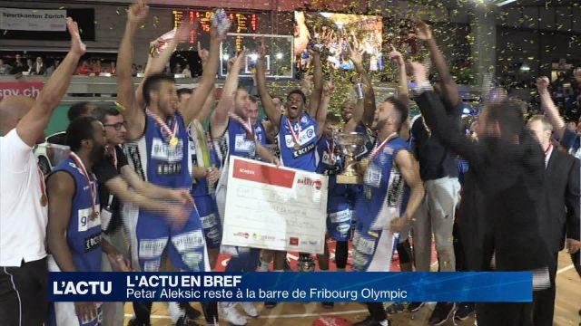 Petar Aleksic prolonge de deux ans à Fribourg Olympic