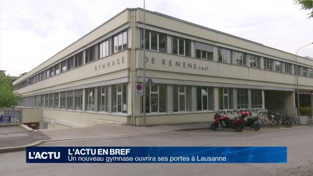 Un nouveau gymnase à Lausanne en juillet
