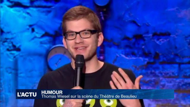 Thomas Wiesel sur la scène du Théâtre de Beaulieu