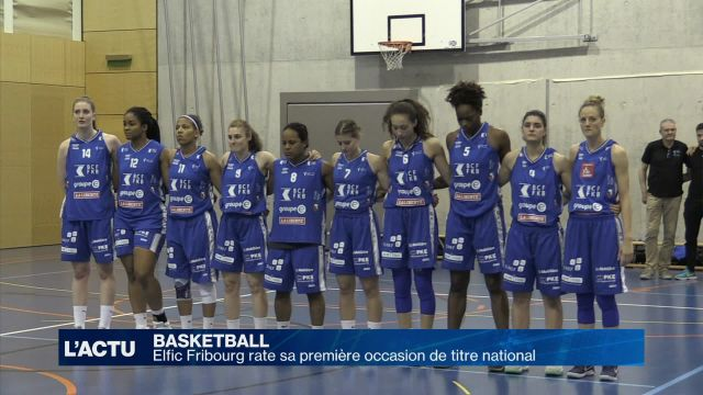 Elfic Fribourg rate sa première occasion de titre national