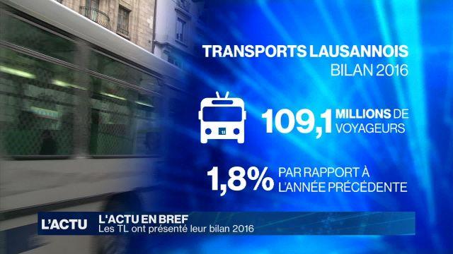 Les TL ont dévoilé leur bilan 2016