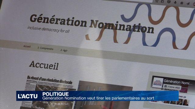 Génération Nomination veut tirer les parlementaires au sort