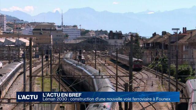 Construction d'une nouvelle voie ferroviaire à Founex