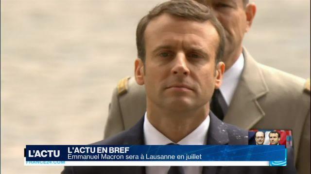 Emmanuel Macron sera à Lausanne en juillet