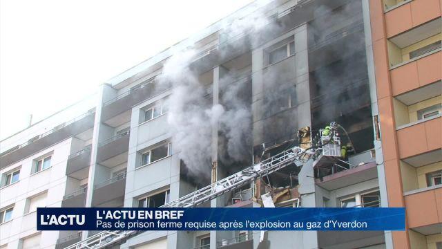 Pas de prison ferme requise après l'explosion d'Yverdon