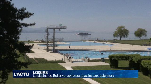 La piscine de Bellerive ouvre ses bassins aux baigneurs