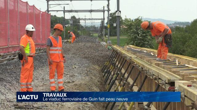 Le viaduc ferroviaire de Guin fait peau neuve