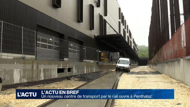 Nouveau centre de transport par le rail à Penthalaz
