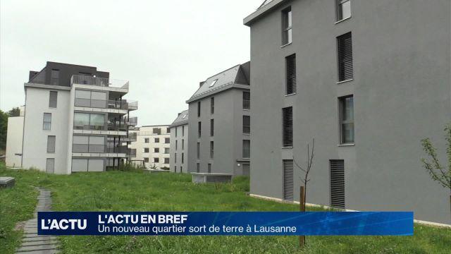 Vaste quartier flambant neuf à Lausanne