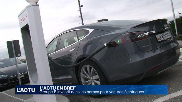 Groupe E investit dans les bornes pour voitures électriques