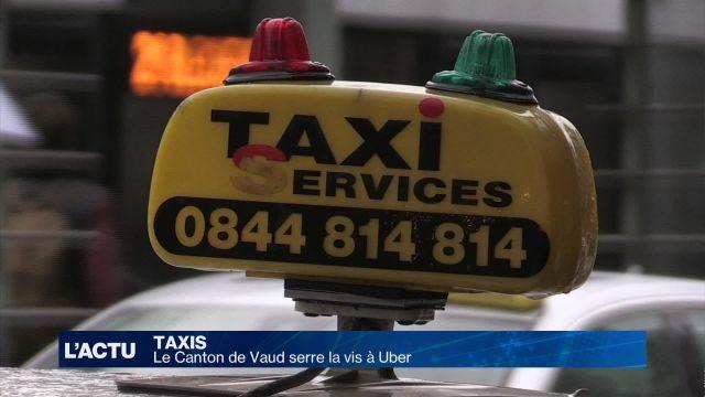 Le canton de Vaud serre la vis à Uber