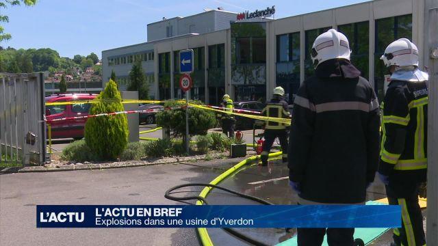 Explosions dans une usine d'Yverdon-les-Bains