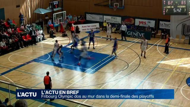 Fribourg Olympic dos au mur dans la demi-finale des playoffs