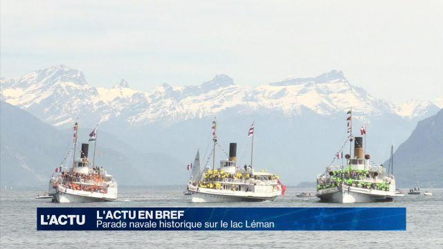 Parade navale historique de la CGN sur le lac Léman