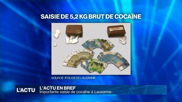 Importante saisie de cocaïne à Lausanne
