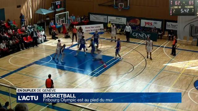Basket : Fribourg Olympic est au pied du mur