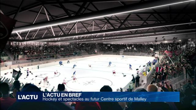 Hockey et spectacles au futur centre sportif de Malley