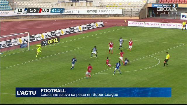 Football : Lausanne sauve sa place en Super League