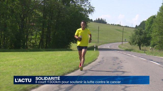 Il va courrir 1'300km pour la lutte contre le cancer