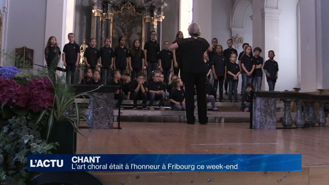 L'art choral était à l'honneur à Fribourg
