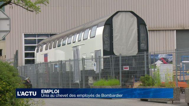Unia au chevet des employés de Bombardier