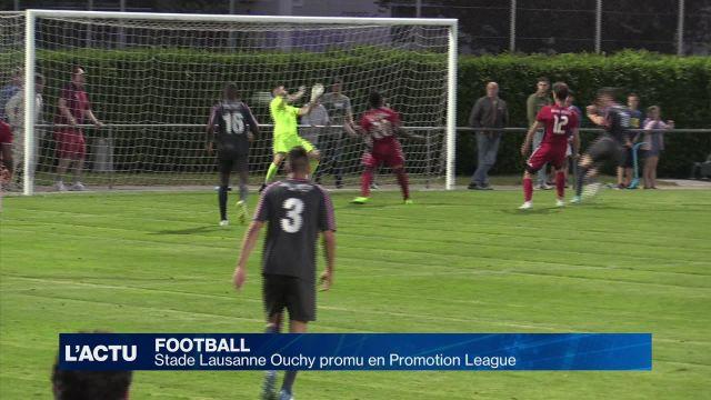 Football : Stade Lausanne Ouchy promu en Promotion League
