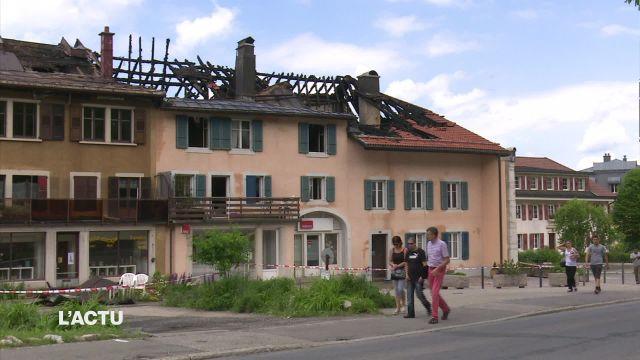 Incendie et évacuation d'immeubles au Brassus