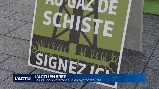 Les vaudois devront voter sur les hydrocarbures