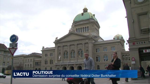 Démission surprise du Conseiller fédéral Didier Burkhalter