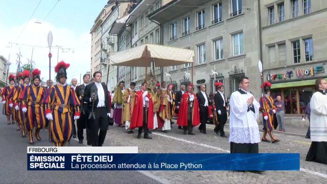 Procession de la Fête Dieu à Fribourg