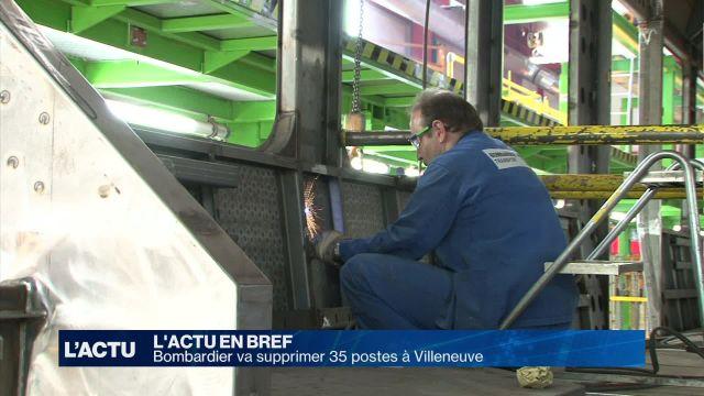 Bombardier va supprimer 35 postes sur son site de Villeneuve