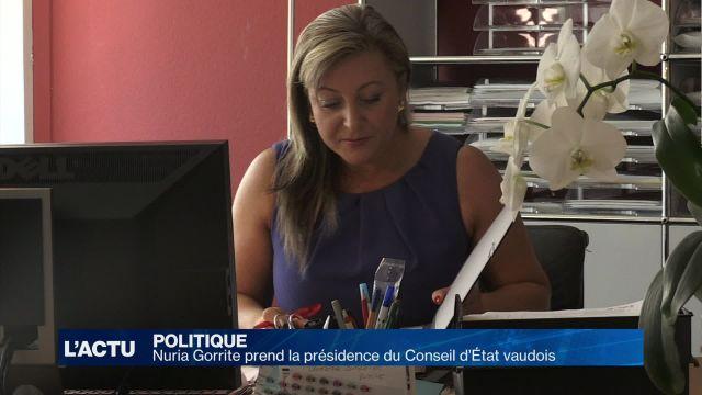Nuria Gorrite prend la présidence du Conseil d'État vaudois