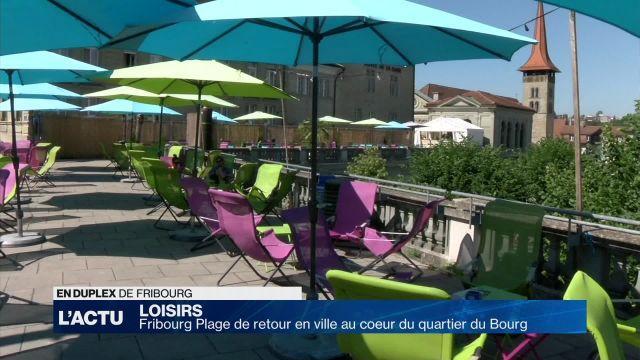 Fribourg Plage de retour en ville mais au coeur du Bourg