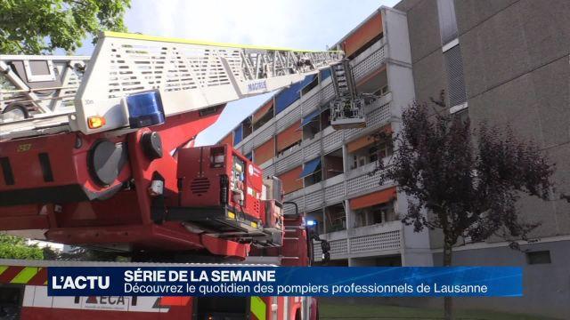 Découvrez le quotidien des pompiers de Lausanne 2/4