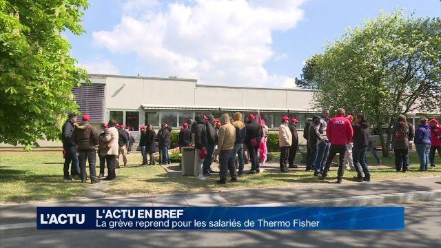 La grève reprend pour les salariés de Thermo Fisher