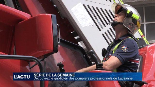 Découvrez le quotidien des pompiers de Lausanne 3/4